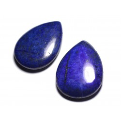 Pendentif Pierre semi précieuse - Lapis Lazuli Grande Goutte 60mm - 4558550091628