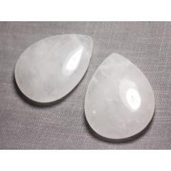 Pendentif Pierre semi précieuse - Cristal de Roche Quartz Grande Goutte 60mm - 4558550091635