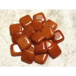 2pc - Perles de Pierre - Jade Orange Losanges 20mm 4558550014610