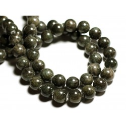 8pc - Perles de Pierre - Jade Boules 12mm Gris Vert - 4558550089632