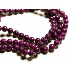 10pc - Perles de Pierre - Jade Boules 8mm Violet Prune - 4558550089663