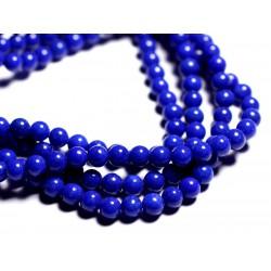 20pc - Perles de Pierre - Jade Boules 6mm Bleu nuit - 4558550089687