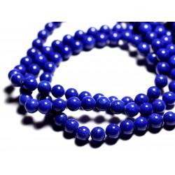 10pc - Perles de Pierre - Jade Boules 8mm Bleu nuit opaque - 4558550089694