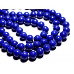 10pc - Perles de Pierre - Jade Boules 10mm Bleu nuit opaque - 4558550089700
