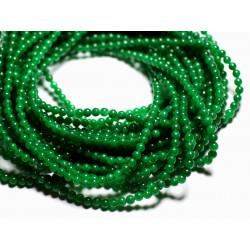 40pc - Perles de Pierre - Jade Boules 4mm Vert impérial - 4558550089793