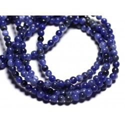 20pc - Perles de Pierre - Sodalite Boules 4mm - 4558550022363