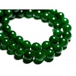 8pc - Perles de Pierre - Jade Boules 12mm Vert Impérial - 4558550089755