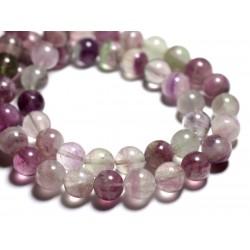 4pc - Perles de Pierre - Fluorite Multicolore Boules 12mm - 4558550089465