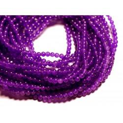 40pc - Perles de Pierre - Jade Boules 4mm Violet - 4558550089779