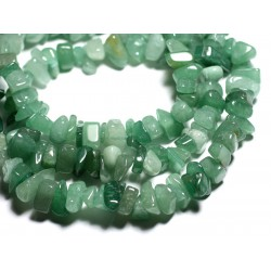40pc - Perles de Pierre Aventurine verte - Grosses rocailles chips 6-19mm - 4558550089205