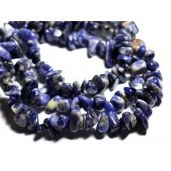 40pc - Perles de Pierre - Sodalite Grosses rocailles chips 6-19mm - 4558550089236