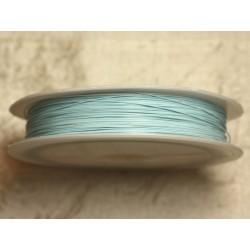 Bobine 70 mètres - Fil Métal Câblé 0.38mm Bleu clair pastel - 4558550008244