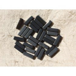 20pc - Perles de Pierre - Hématite Rectangles 13x4mm 4558550017499