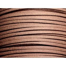 5 mètres - Cordon Lanière Suédine 3mm Marron Taupe - 4558550088437