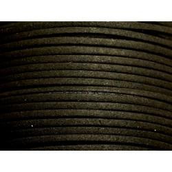 5 mètres - Cordon Lanière Suédine 3mm Noir 4558550101945
