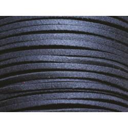 5 mètres - Cordon Lanière Suédine 3x1.5mm Bleu Marine 4558550116833