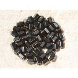 20pc - Perles de Pierre - Hématite Tubes Facettés 8x6mm 4558550017727