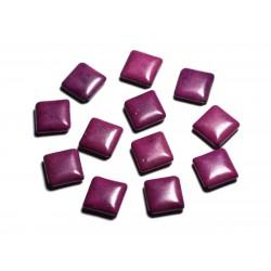 10pc - Perles de Pierre Turquoise synthèse - Losanges 18x14mm Violet - 4558550087966