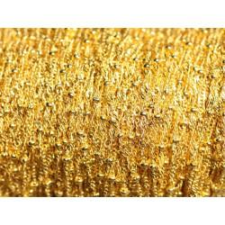 1 mètre - Chaîne Mailles et Perles Métal Doré Qualité 1.8 - 2mm 45585500878121