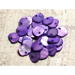 10pc - Perles Breloques Pendentifs Nacre Pommes 12mm Violet 4558550011121