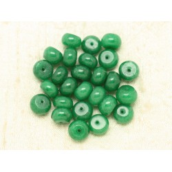 10pc - Perles de Pierre - Jade Rondelles 10x6mm Vert 4558550000279