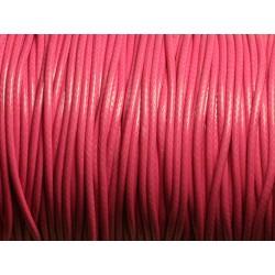 5 Mètres - Cordon de Coton Ciré 1.5mm Rose Bonbon - 4558550009609