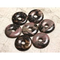 1pc - Pendentif Pierre semi précieuse - Rhodonite Donut 30mm 4558550010124