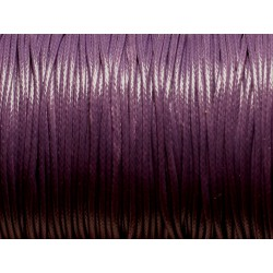 5 Mètres - Cordon de Coton Ciré 1.5mm Violet 4558550023216