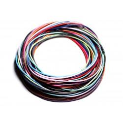 Lot 10 Mètres - Fil Cordon Coton Ciré 1mm Multicolore - 4558550087621
