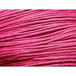 90 mètres - Echeveau Cordon Coton 1mm Rose Fuchsia 4558550012463