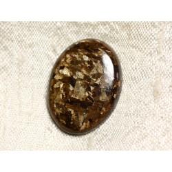 Cabochon de Pierre - Bronzite Ovale 26mm N25 - 4558550087133