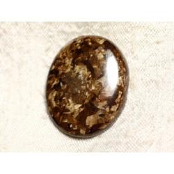 Cabochon de Pierre - Bronzite Ovale 34mm N28 - 4558550087164