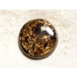 Cabochon de Pierre - Bronzite Rond 21mm N2 - 4558550086907