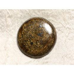 Cabochon de Pierre - Bronzite Rond 30mm N5 - 4558550086938