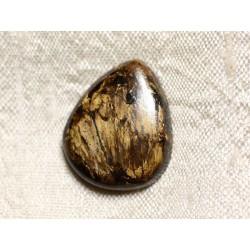 Cabochon de Pierre - Bronzite Goutte 24mm N7 - 4558550086952