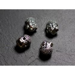 1pc - Perle Argent massif 925 Bouddha 12mm - 4558550086426