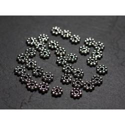 10pc - Perles Argent massif 925 Rondelles intercalaires 5mm - 4558550086532