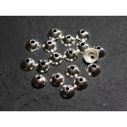 10pc - Coupelles Calottes Argent 925 Lisses 5.5x3mm - 4558550086396