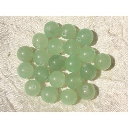 10pc - Perles de Pierre - Jade Boules 10mm Vert clair 4558550016997
