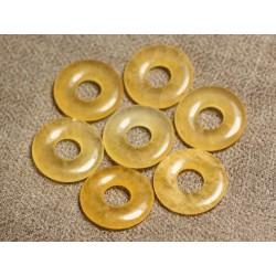 1pc - Pendentif Pierre semi précieuse - Calcite Jaune Donut 20mm 4558550012470