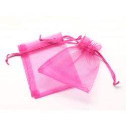 10pc - Sac Pochette Cadeau Bijou - Tissu Organza Rose 10x8cm 4558550012173