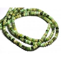 10pc - Perles de Pierre - Chrysoprase Rondelles 6x3-4mm - 4558550084392