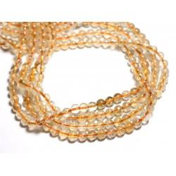 4pc - Perles de Pierre - Citrine Boules 6mm - 4558550084477
