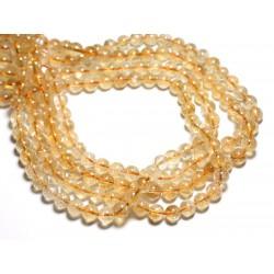 4pc - Perles de Pierre - Citrine Boules 8mm - 4558550084484