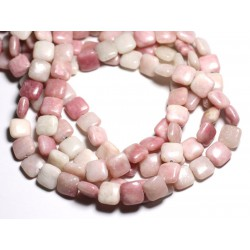 4pc - Perles de Pierre - Opale Rose Carrés 12mm - 4558550084583