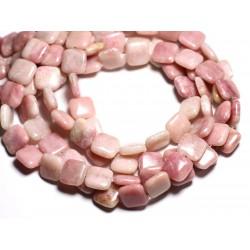4pc - Perles de Pierre - Opale Rose Carrés 14mm - 4558550084590