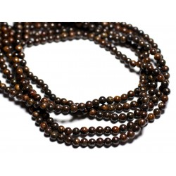 10pc - Perles de Pierre - Bronzite Boules 4mm - 4558550084668
