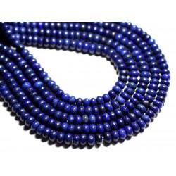 10pc - Perles de Pierre - Lapis Lazuli Rondelles 6x4mm - 4558550085511