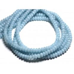 20pc - Perles de Pierre - Quartz turquoise Rondelles 6x4mm - 4558550085535