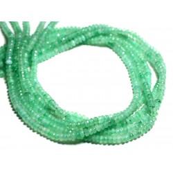 30pc - Perles de Pierre - Jade Rondelles Facettées 4x2mm Vert Menthe Turquoise - 4558550085566